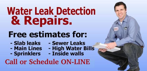 water leak detection and repairs in las vegas